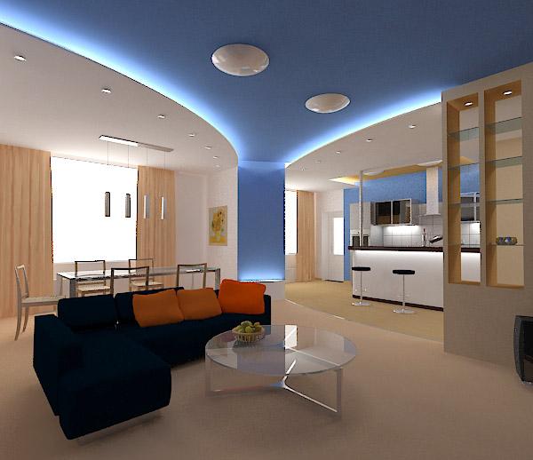 3d schets interieur ontwerp