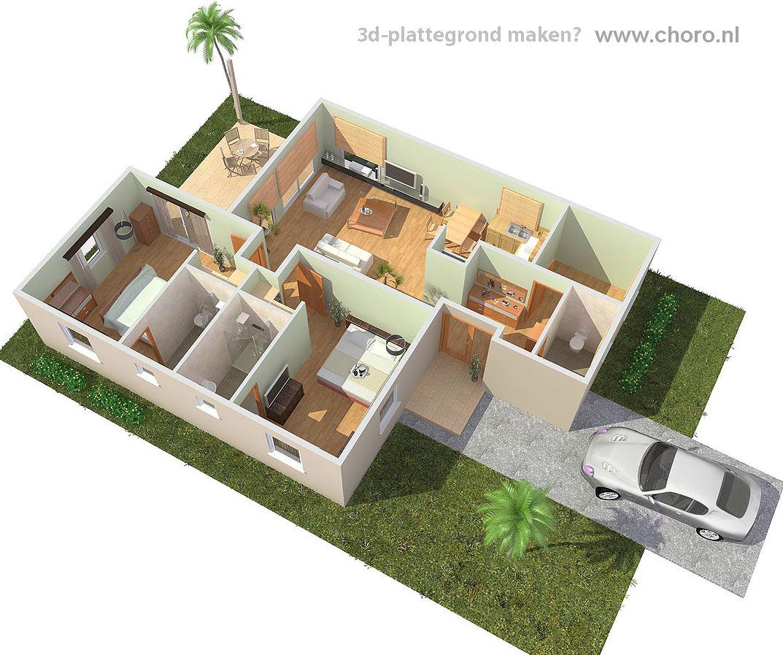 3d plattegrond maken for Plattegrond van je huis maken