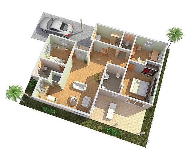 Tekenbureau 3d fotorealistische presentatie van for Eigen kamer ontwerpen 3d
